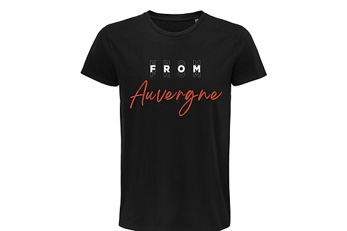 T-shirt BIO Auvergne noir