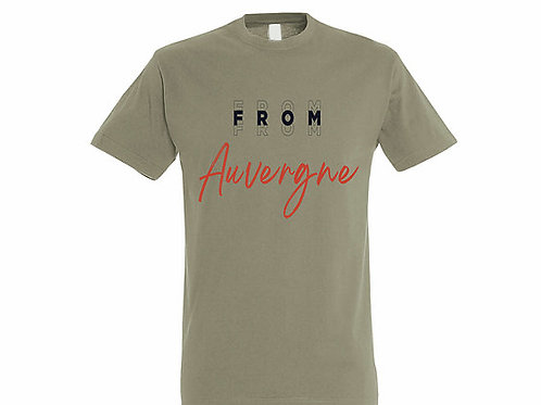 T-shirt Auvergne kaki