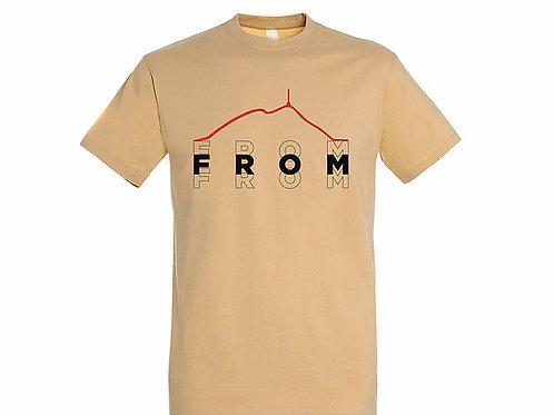 T-shirt Puy de dôme sable