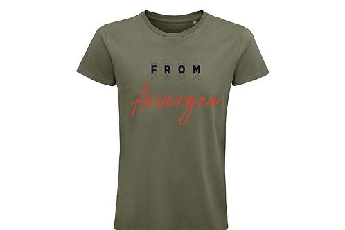T-shirt BIO Auvergne kaki