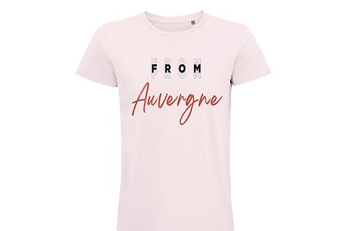 T-shirt BIO Auvergne rose pâle
