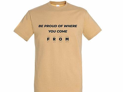 T-shirt Citation sable