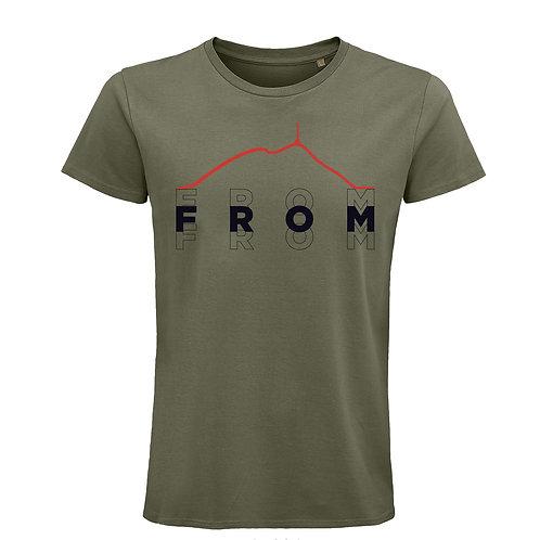 T-shirt BIO Puy de dôme Kaki