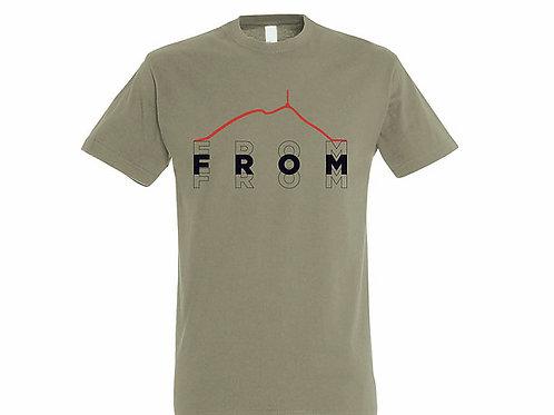 T-shirt Puy de dôme kaki