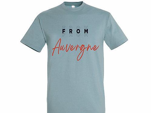 T-shirt Auvergne bleu crémeux
