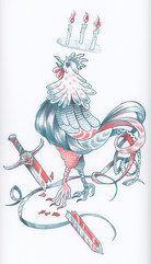 Rooster Riso Print