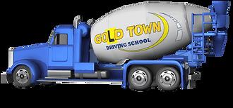 HR truck gold town drivng school