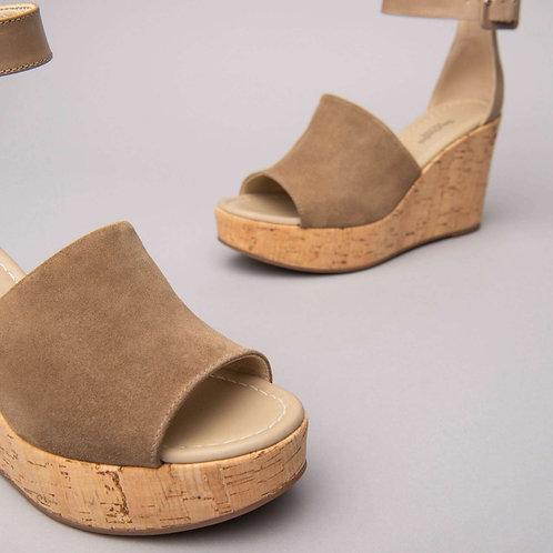 Sandalia de Piel y Ante