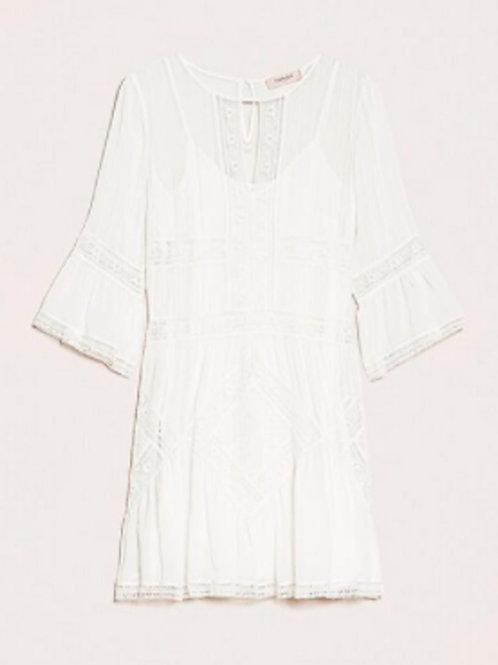 Vestido Blanco de Georette