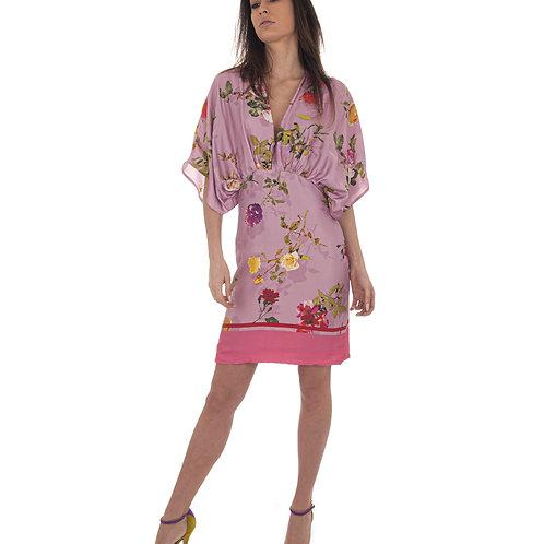 Vestido Seda Flores
