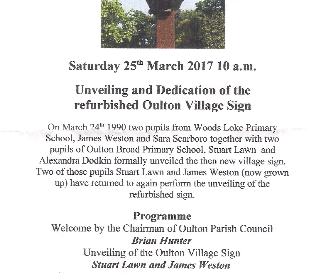 2017 Village Sign Unveiling