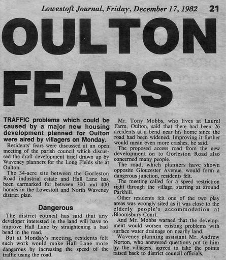 Lowestoft Journal Cutting 1982 (Dunston
