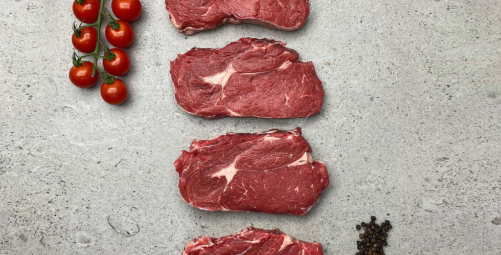 Beef Rib Eye Steaks 4 x 6-7oz