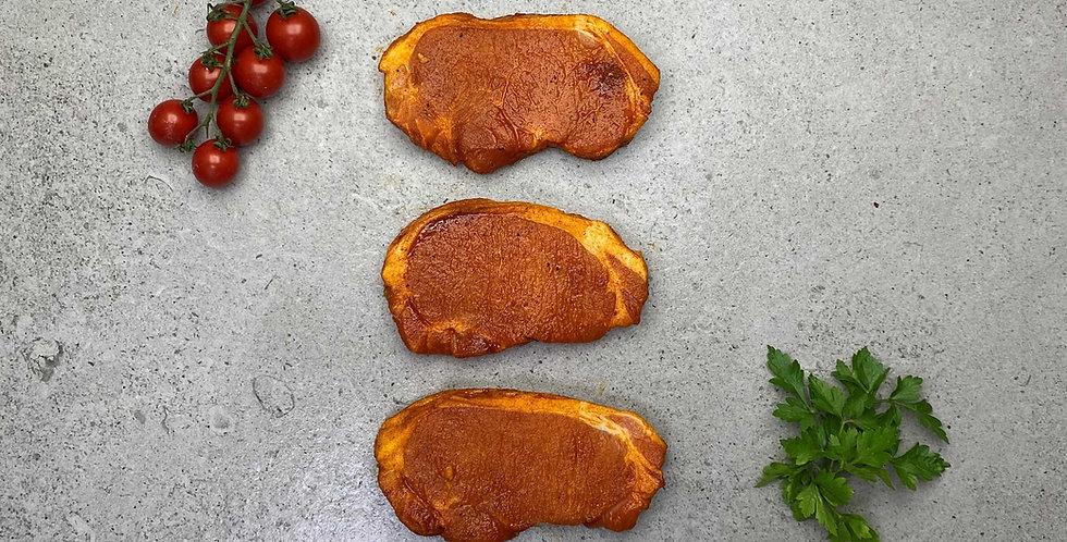 Pork Steaks Sticky Maple Glazed (560g) + Pot of Honey Mustard Sauce 90g