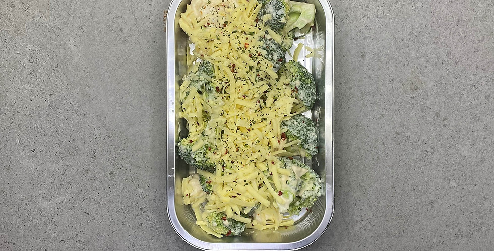 Tray of Cauliflower & Broccolli Cheese