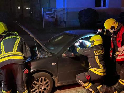 Fahrzeugbrand noch rechtzeitig erkannt