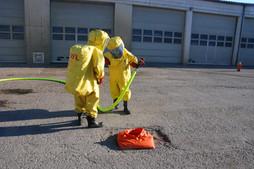 Ausbildung und Einsatzübung Schadstoffe, Schutzstufe 3