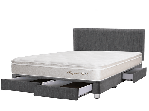DORMITORIO ROYAL CLOUD - CON CAJONES 1,5 PLAZAS