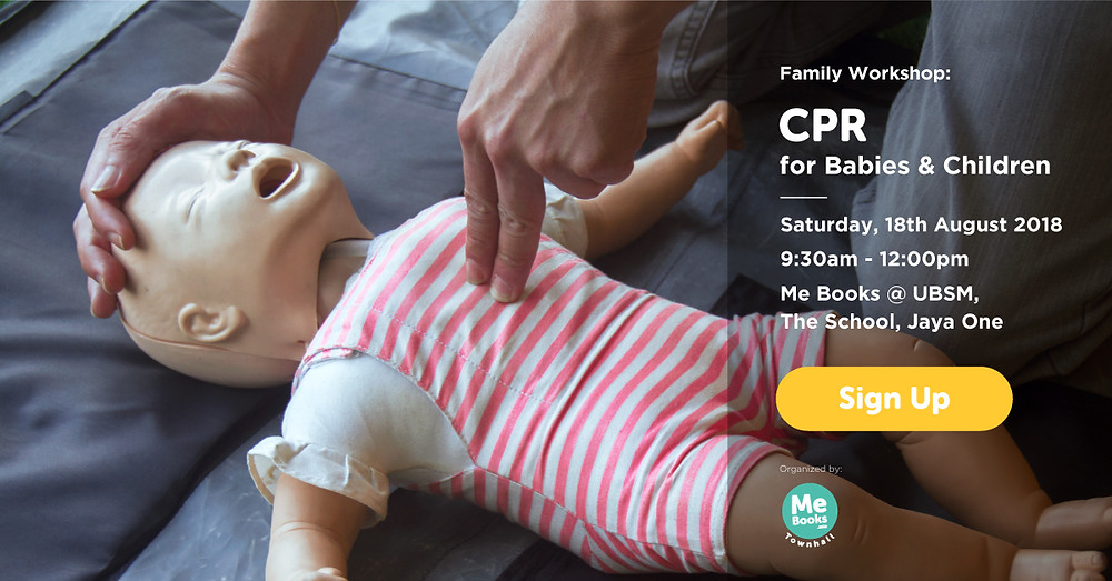Join Me Books' CPR workshop with our resident doctor Dr Chatichai Chong on Saturday 18th August