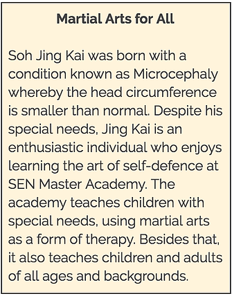 Me Books: SEN Master Academy teaches children with special needs using martial arts as a form of therapy.