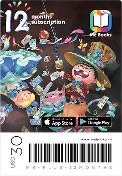 Me Books 12 months subscription App Card