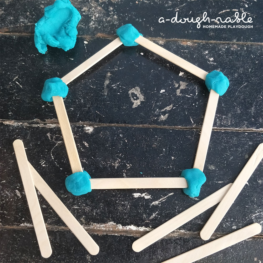 Mathematics is also involved in this simple activity when kids create shapes and do some measuring themselves. (Credit: adoughrable)