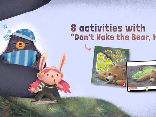 """8 Activities with """"Don't Wake The Bear, Hare"""" Children's Book by Steve Smallman"""