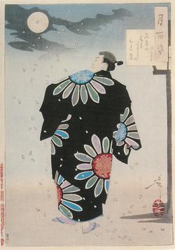 Стихи о луне. Поэт Фуками Дзикю.