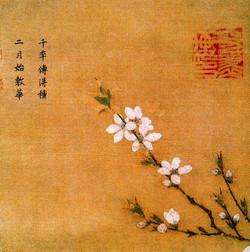 Ма Юань. Персик в цвету.