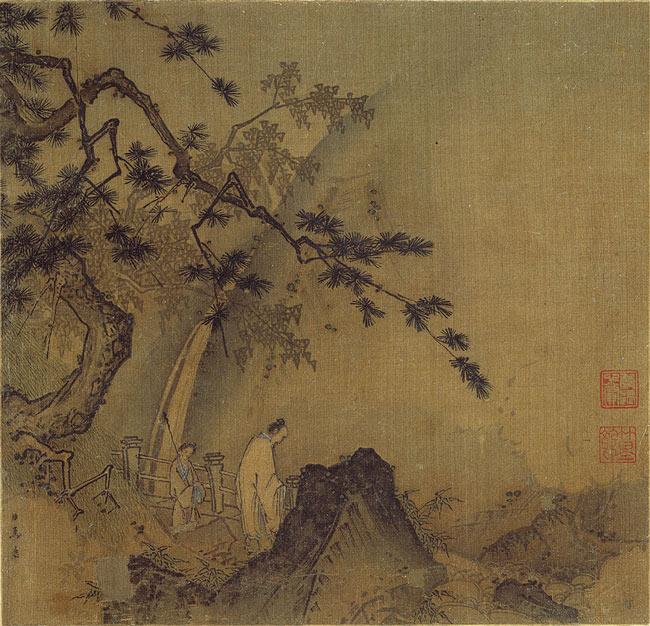 Ма Юань. Ученый у водопада.