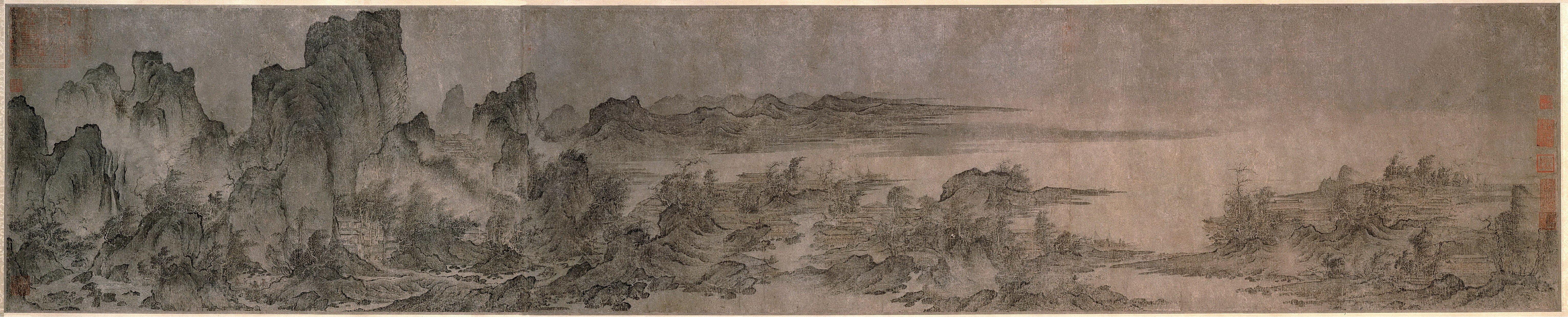 Янь Вэньгуй. Строения среди гор и рек..jpg