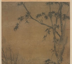 Ма Юань. Бамбук и утки в несущемся потоке. Фрагмент