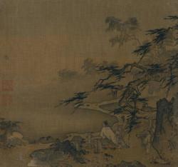 Ма Юань. Учёный со слугой на горной террасе.jpg