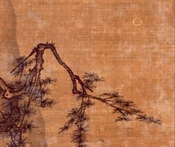 Ма Юань. Пейзаж. Фрагмент.