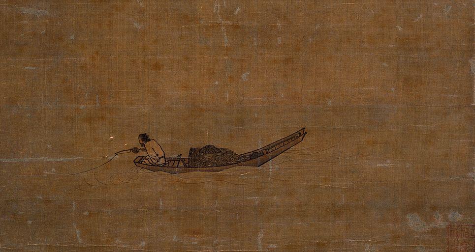 Ма Юань. Одинокий рыбак на замерзшей реке.