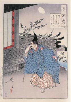 Таира-но-Таданори, ждущий любовницу