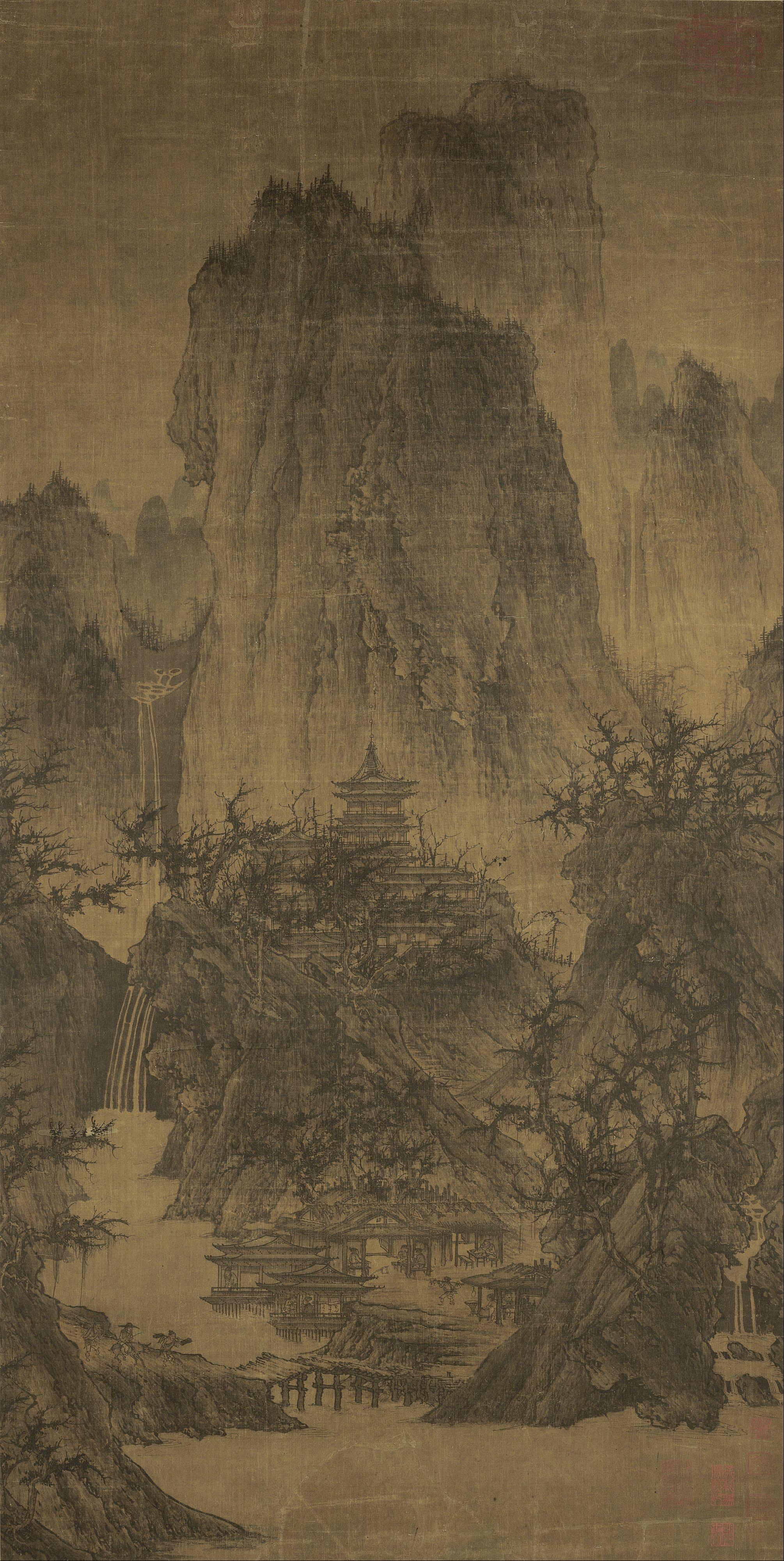 Ли Чэн. Буддийский храм в горах..jpg