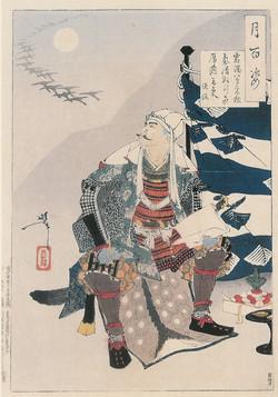Уесуги Кеэнсин, сочиняющий стихи