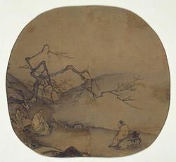 Ма Юань. Ученые, беседующие под цветущим сливовым деревом
