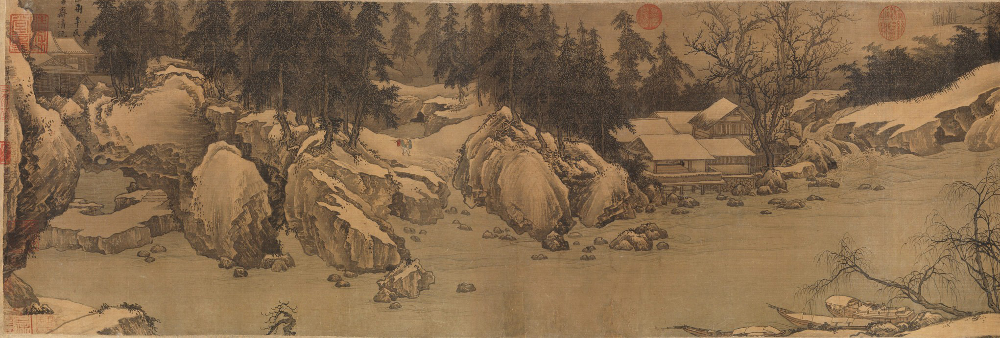 Гао Кэмин Горы и потоки в первом снеге 1.jpg