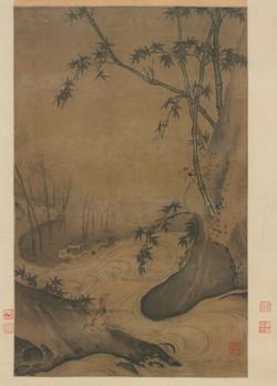 Ма Юань. Бамбук и утка в несущемся потоке.