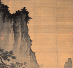 Ма Юань. Созерцание луны. Фрагмент.