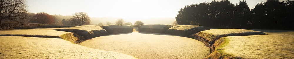 The ampitheatre at Caerleon at Sunrise
