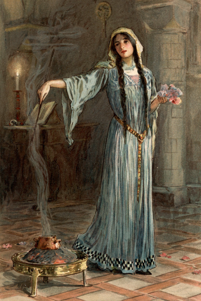 W. H. Margetson's illustration for Legends of King Arthur and His Knights by James Knowles.