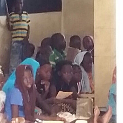 Children waiting for lunch