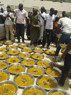 Cisse Niass Project pantry has prepared food for the villagers!!!