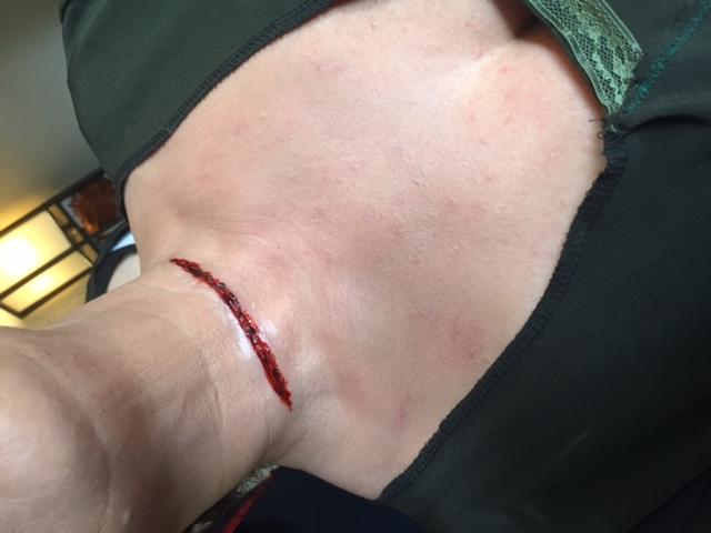 Clean cut (before bleeding out)