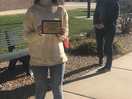 Hoscheid - Recipient of the Student Excellence Award