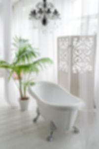 Beautiful luxury vintage empty bathtub n