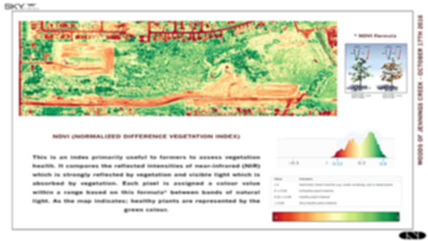 NDVI data for a development site with drone mapping technology